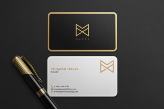 I will design luxury business card, and unique modern business card design.
