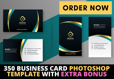 I will send you 350 Business Card Photoshop Template with extra bonus