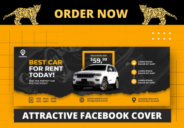 I will design an attractive and professional facebook cover or social media banner