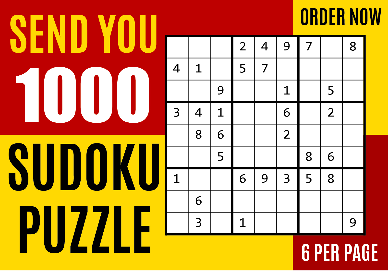 I will send you 1000 sudoku puzzles with solution