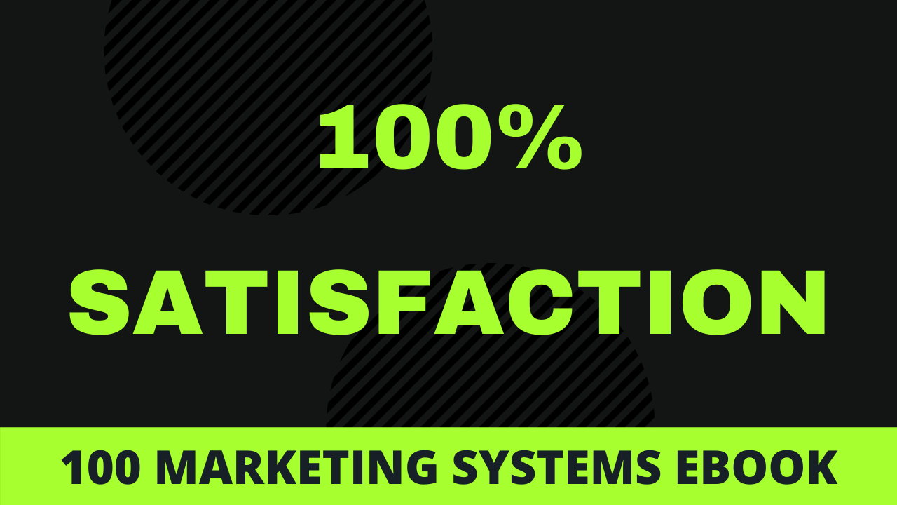 I will send you 100 Marketing Systems eBook with master resell rights