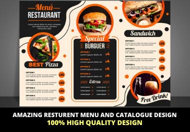 High Quality Professional Restaurant Menu Design