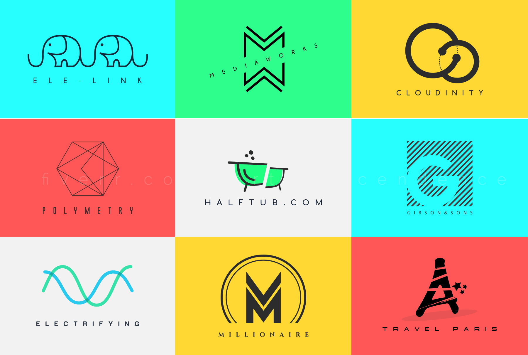 I will design modern minimalist logo for you business or website