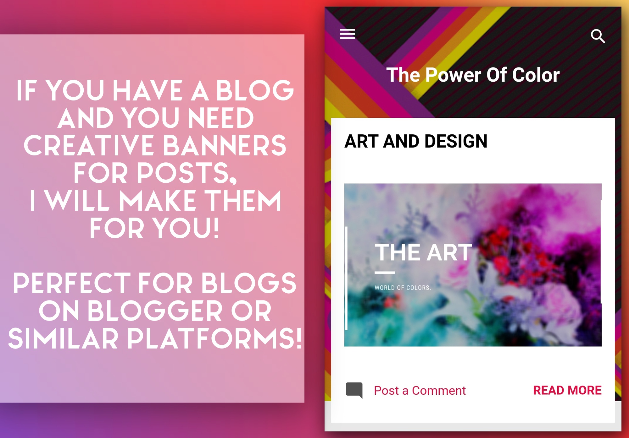 I will make great post banners for any blog!