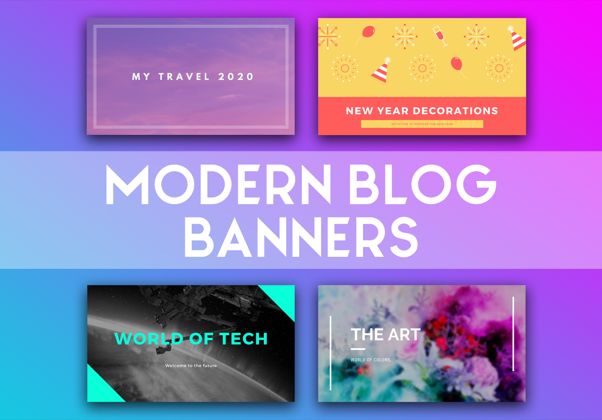I will make great post banners for any blog