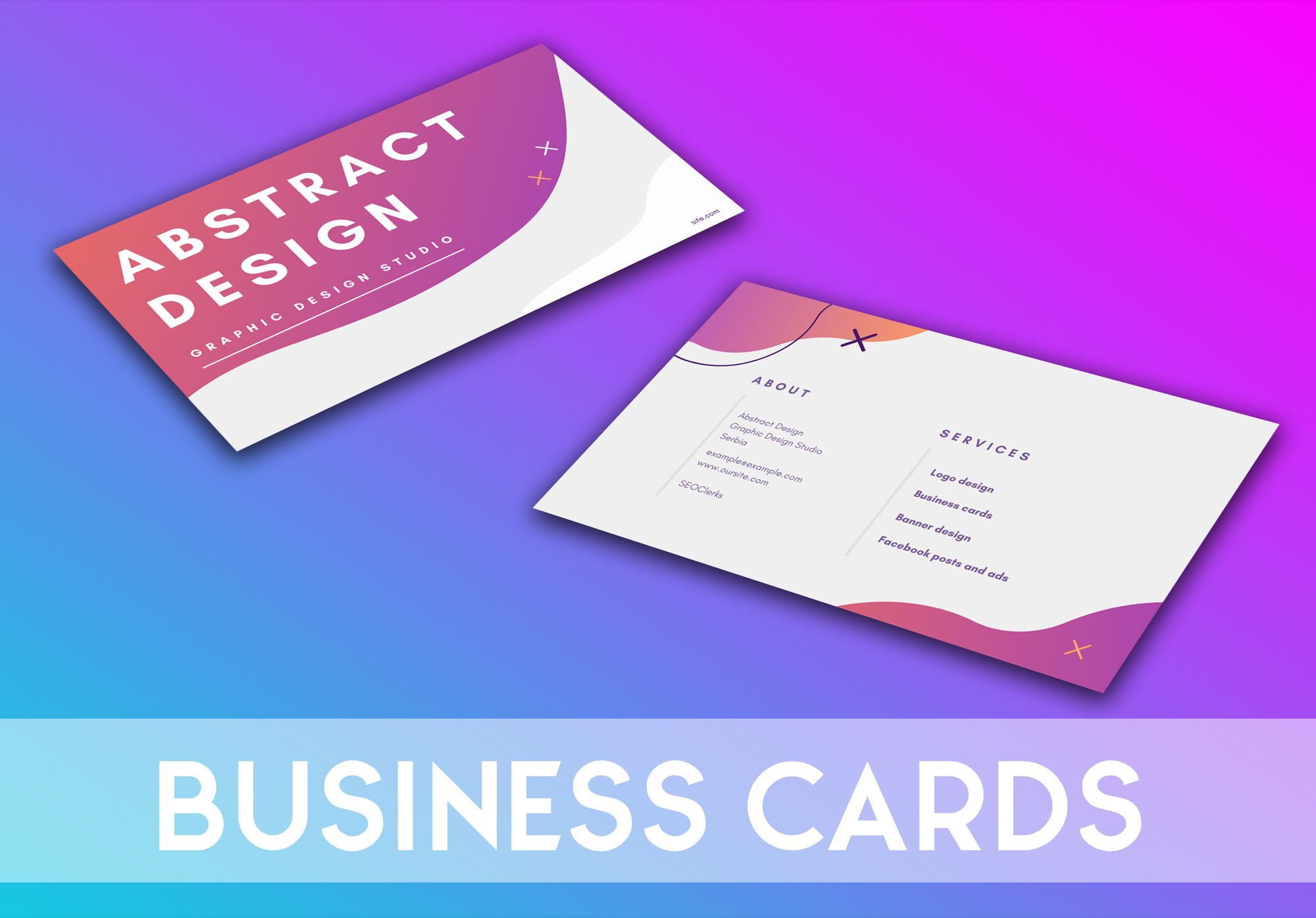 I will make beautiful and modern business cards that they best describe your job