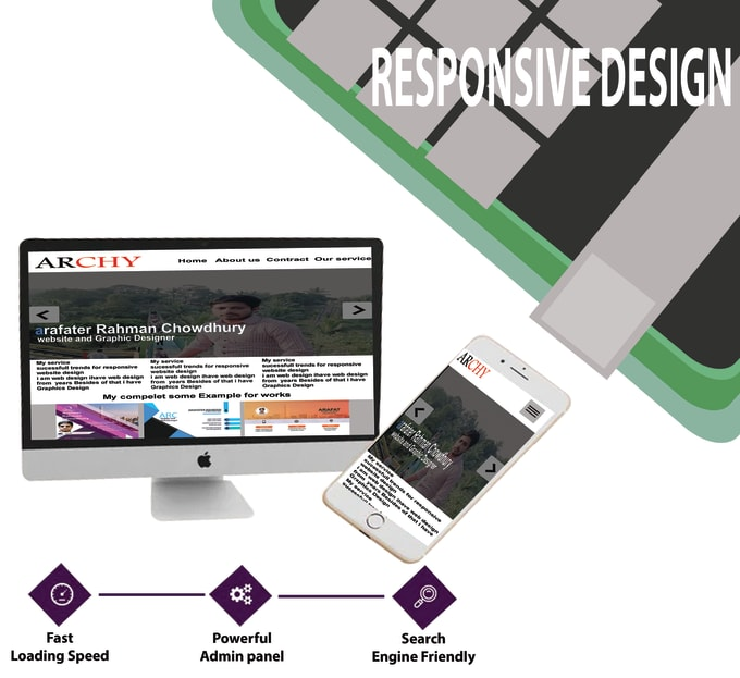 I will design professional and responsive website
