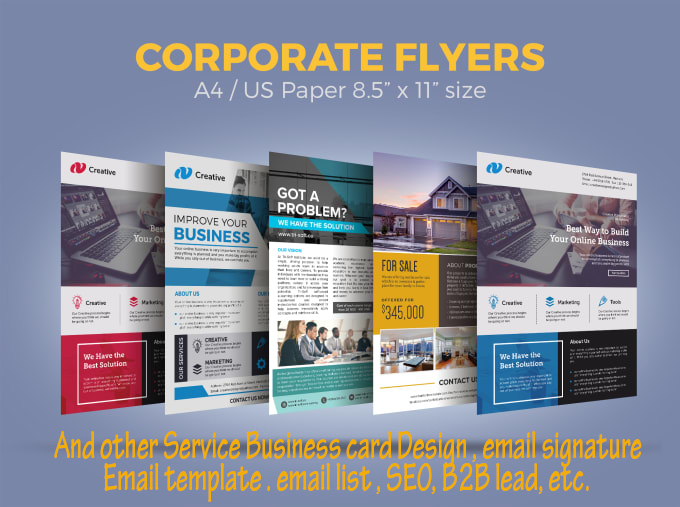 I will design business, corporate flyer,poster or postcard in 24 hours