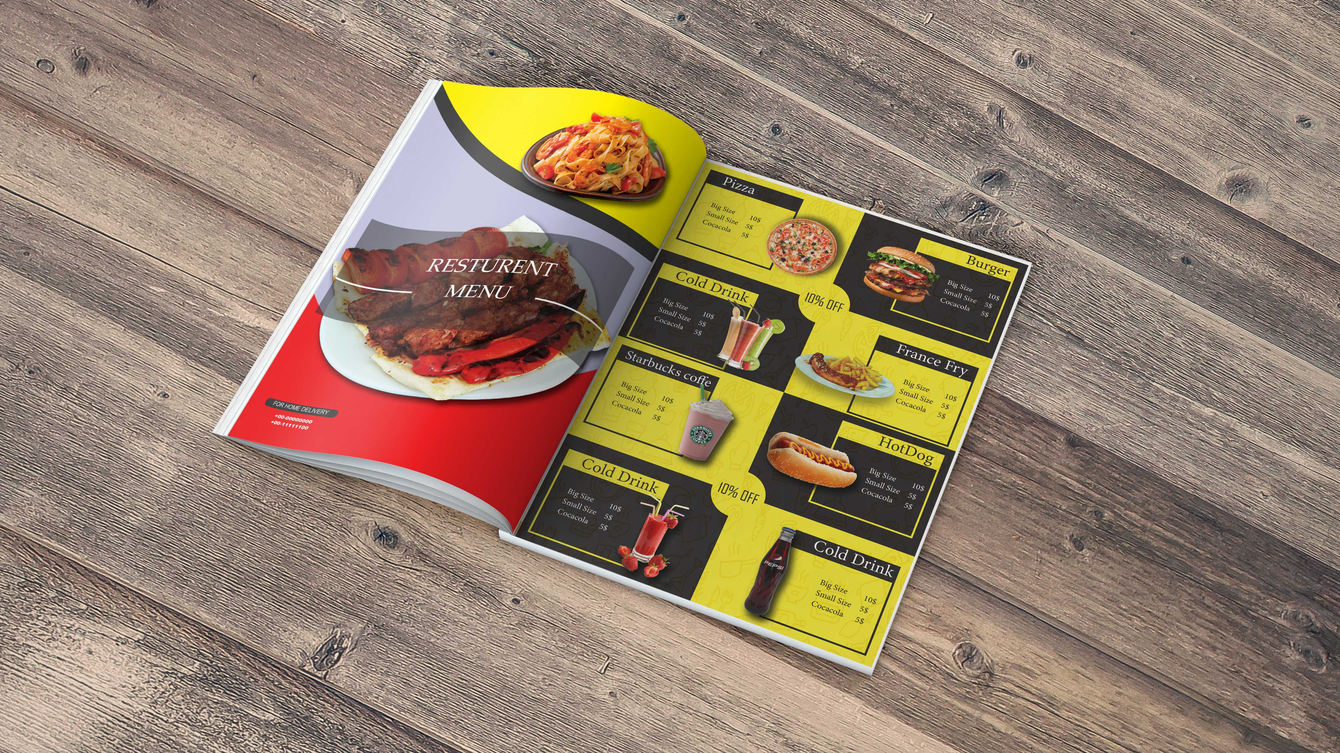 Amazing resturent menu and catalogue design