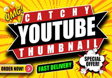 I will create design eye-catchy youtube thumbnail in 3 hours