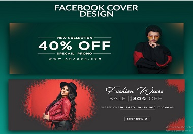 I will create a Facebook cover page, twitter, Instagram, YouTube and Other social media cover design