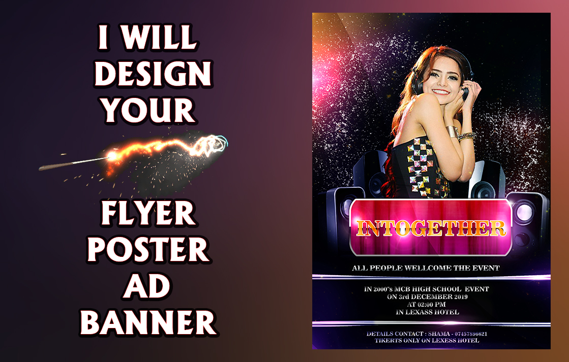 I will Design Flyer, Banner, Ad, Leaflet, Remaking and Editing Using Photoshop and Illustrator
