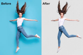 I will remove background from 5 image professionally in 4 hour