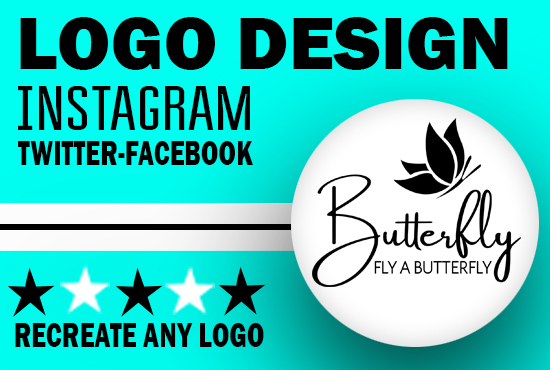 I will do professional instagram,  twitter or facebook logo design