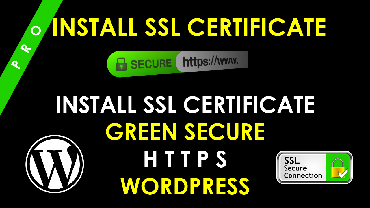 Install SSL certificate https on your wordpress website
