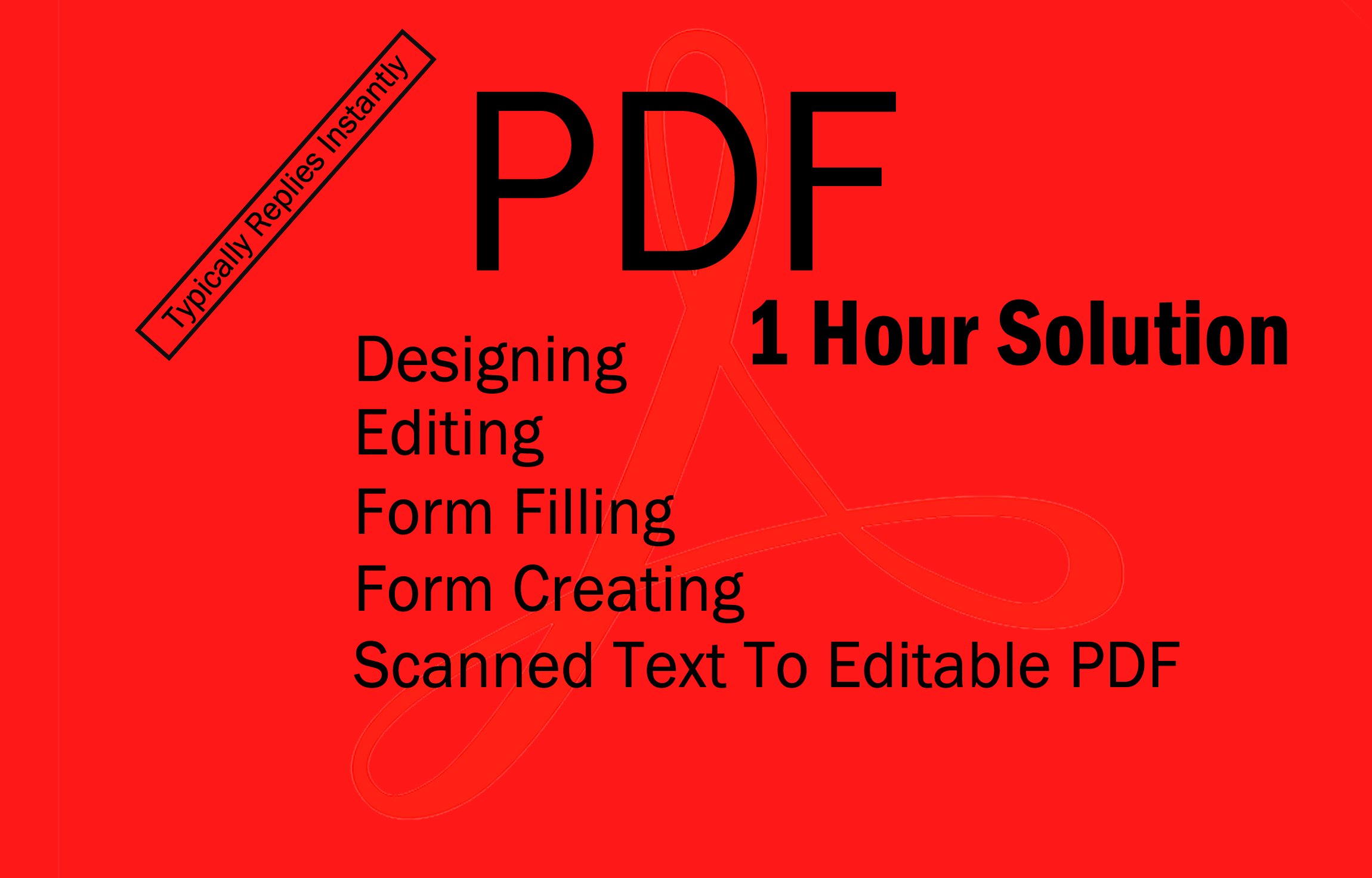 I will create and edit any PDF file or document in 1 hour