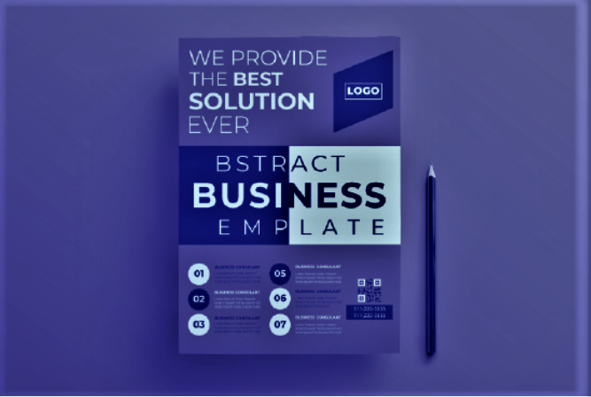 I will create high quality professional posters flyers banner brochure leaflet