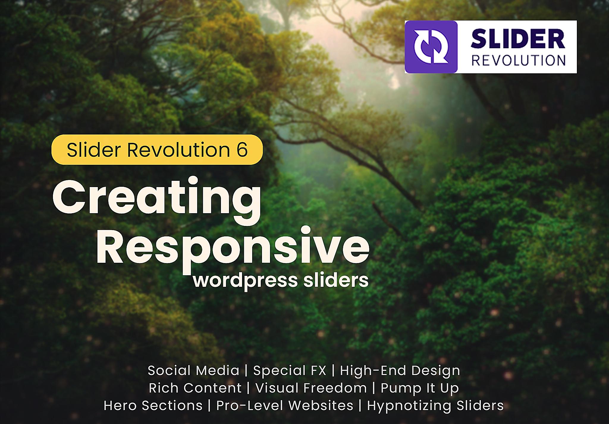 Creating responsive WordPress sliders,  web pages & stunning website