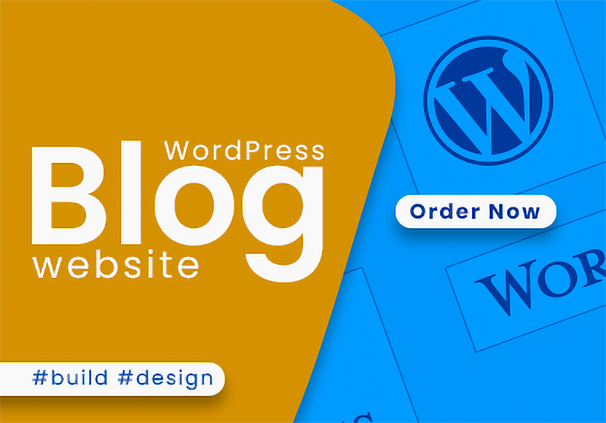 Create impressive wordpress blog website for you