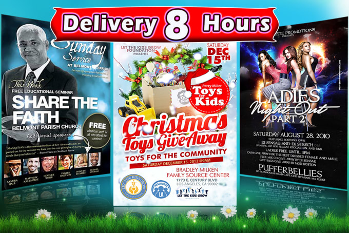 I will design professional flyer,  postcard, brochure design in 8 hours