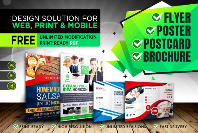 Design stylish business flyer,  poster,  postcard, banner,  magagine ad or any other graphics