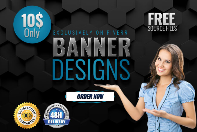 Design awesome social media cover, banner, web template or website banner