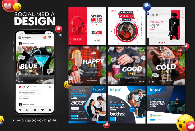I will design any social media post, banner, cover, and header