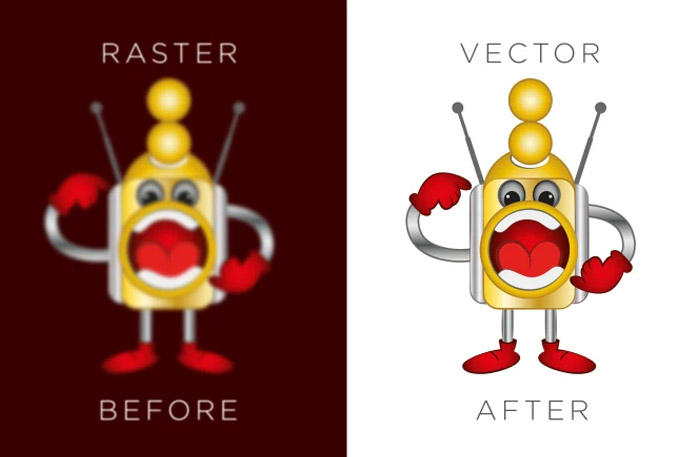vectorize or vector trace your logo,  T shirt and any raster design