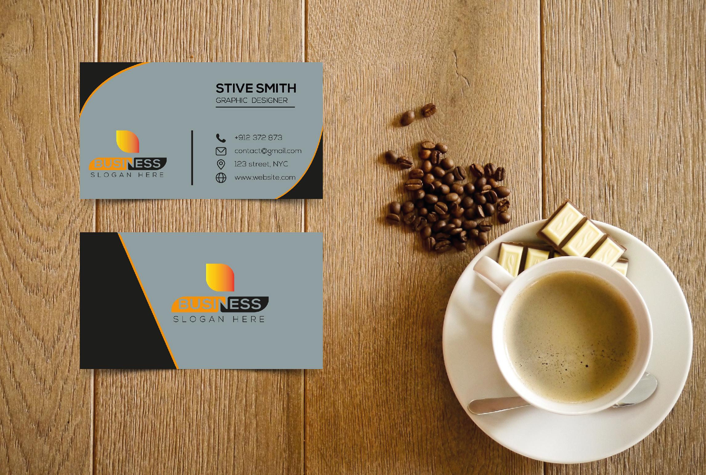 I will Create business card with two concepts