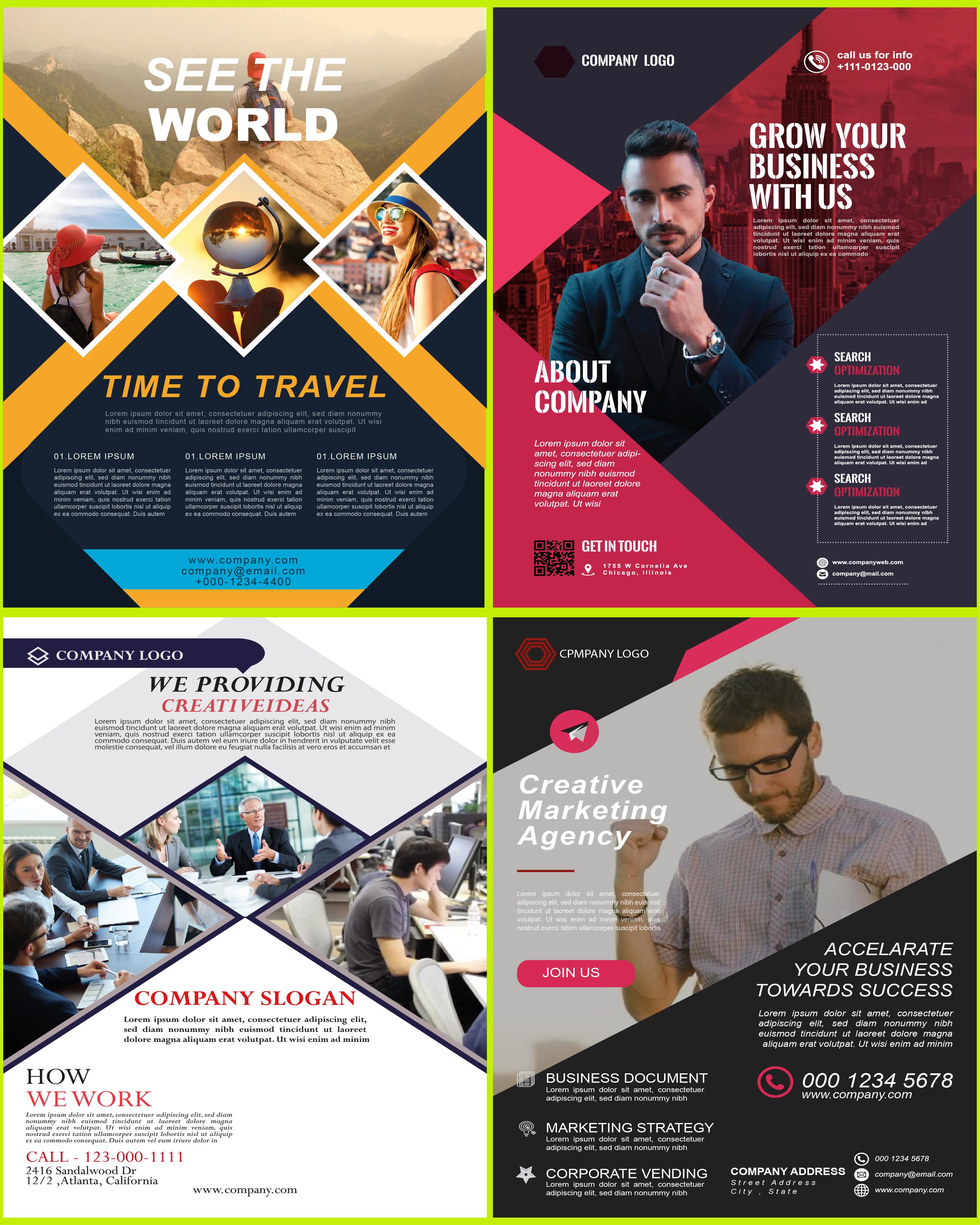 I will design professional brochure, flyer, creative design service
