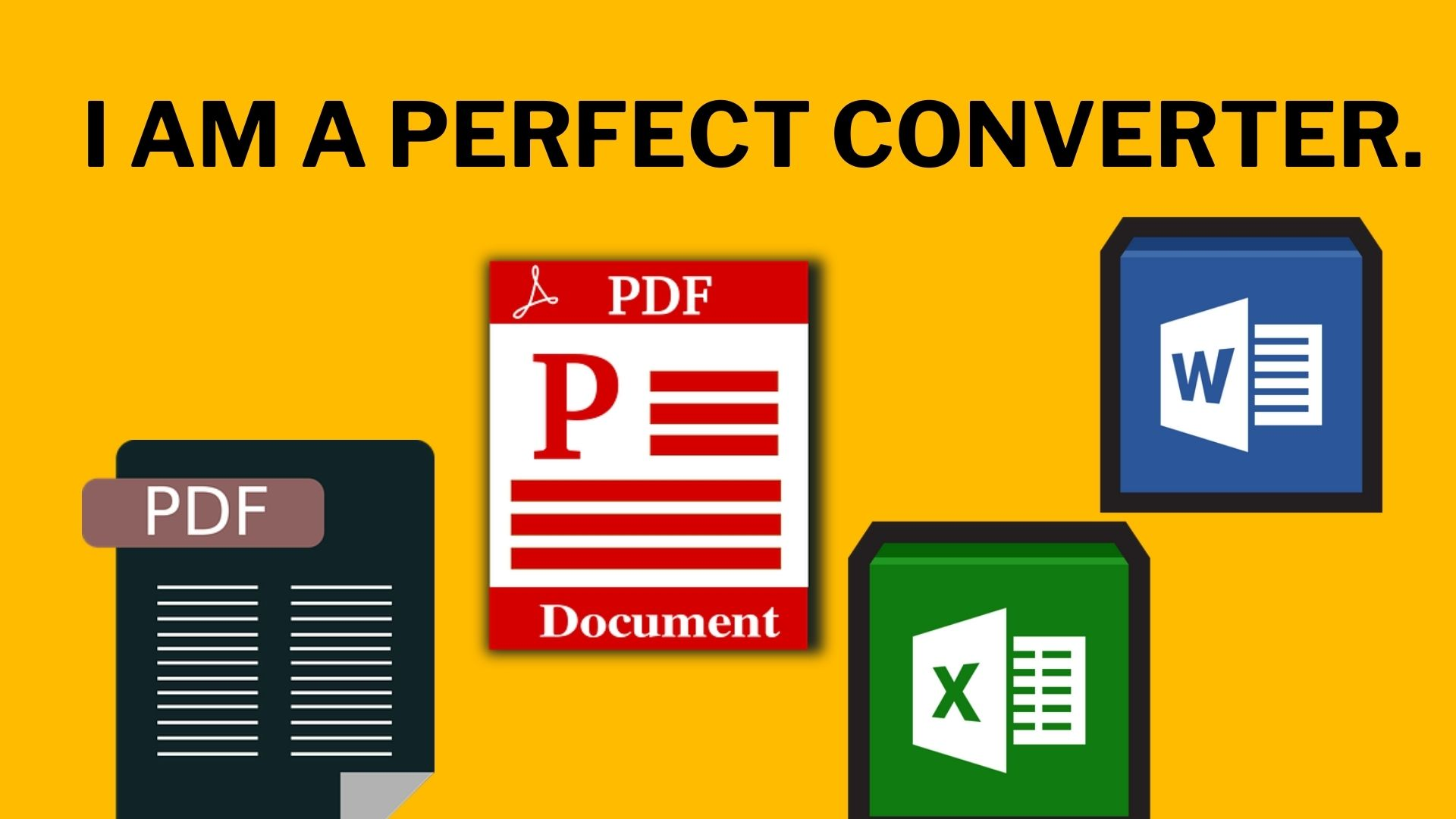 I will Convert PDF to Excel,  Word and any kind of Format Document