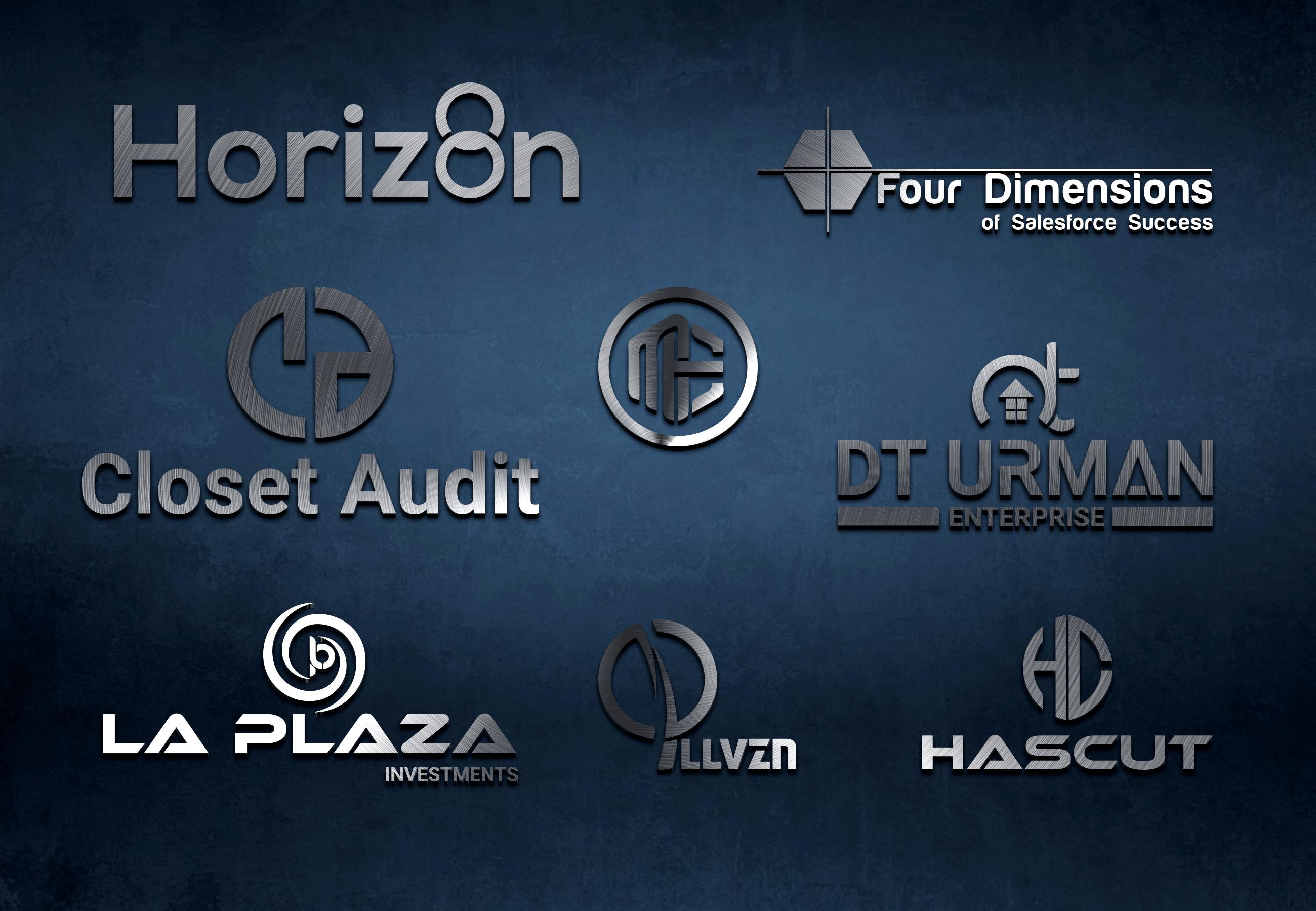 I will Professional creative font logo Design