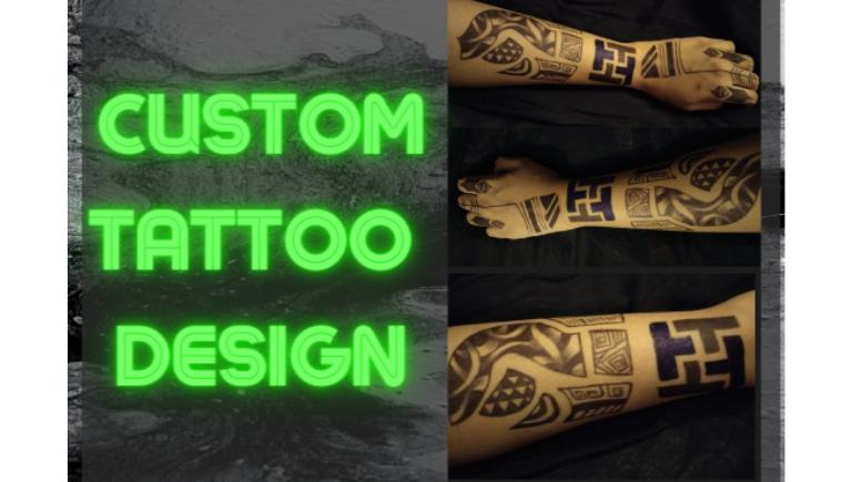 I will create custom tattoo design