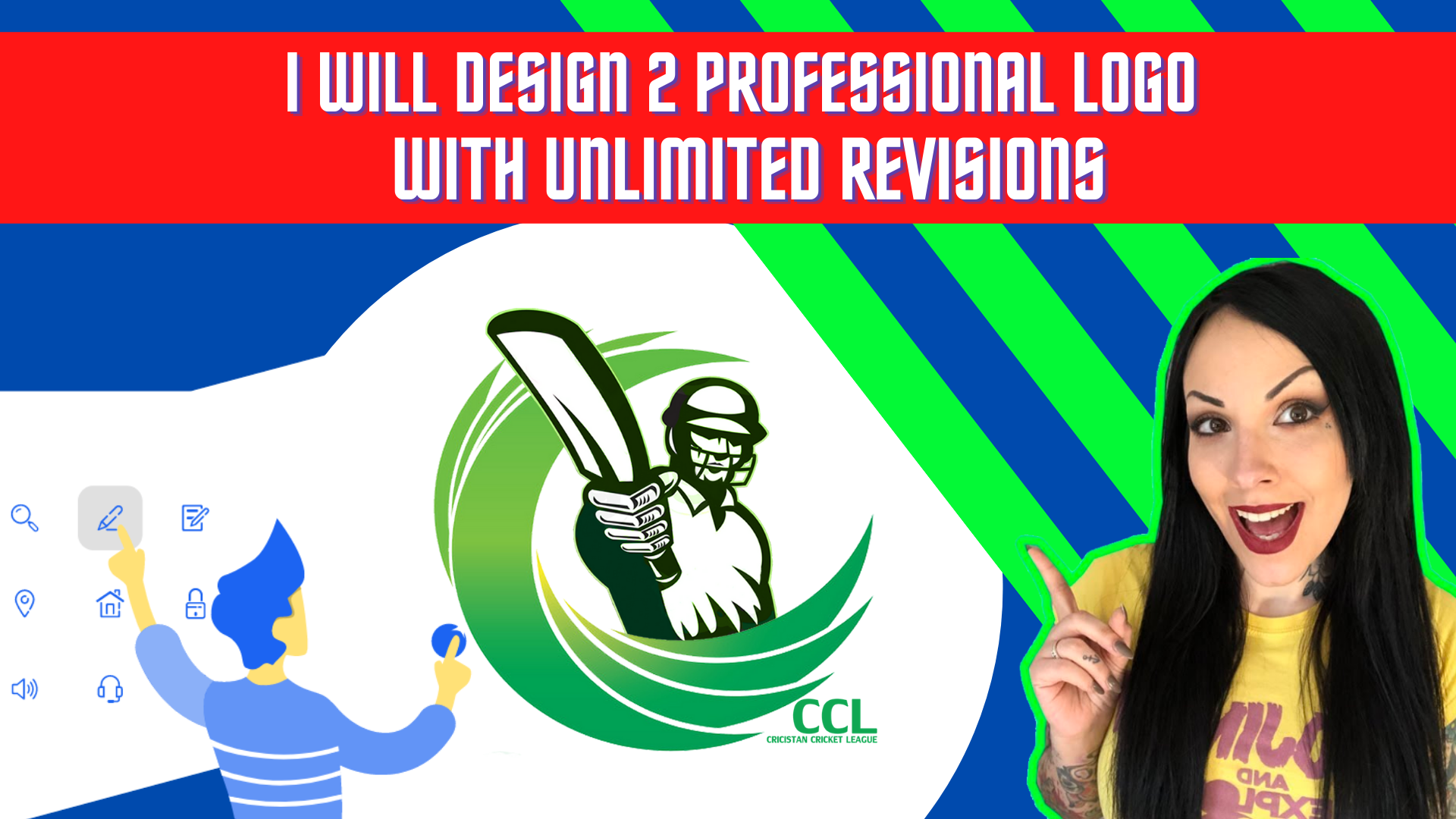 I will design 2 professional logo with unlimited revisions