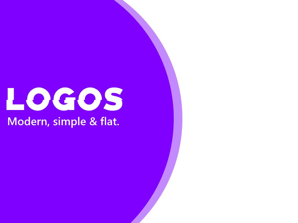 Modern,  Flat & Professional Logo Designs