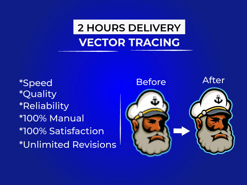 I will vector tracing,  redraw or recreate logo or image