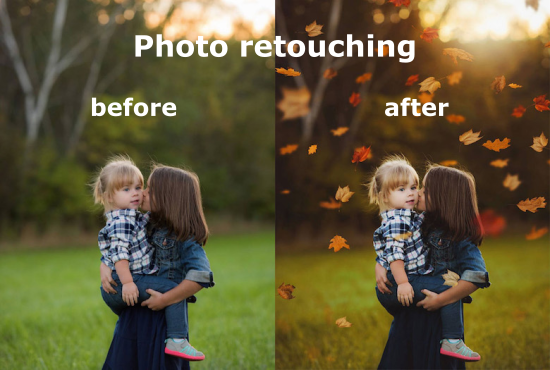 I will do photo retouching for you.