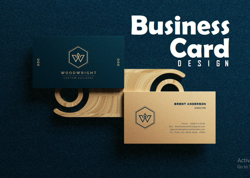 I am expert in business card design