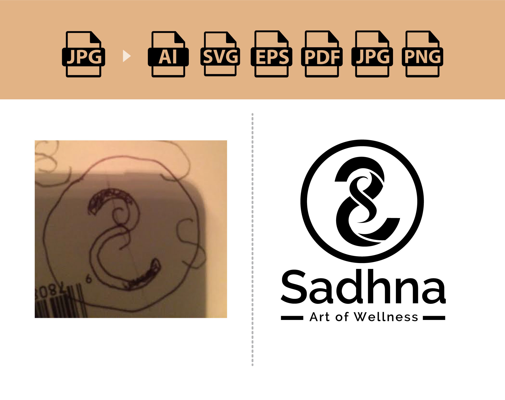 I can recreate, redraw logo or image to vector format