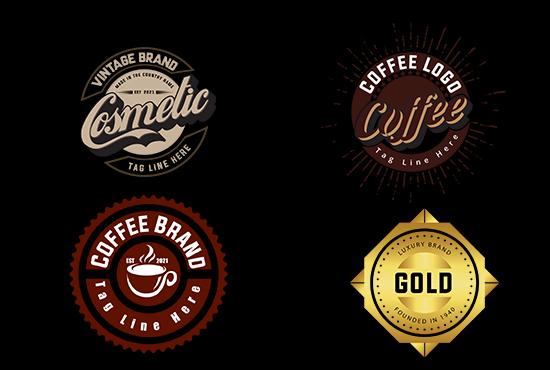 I will design professional vintage logo