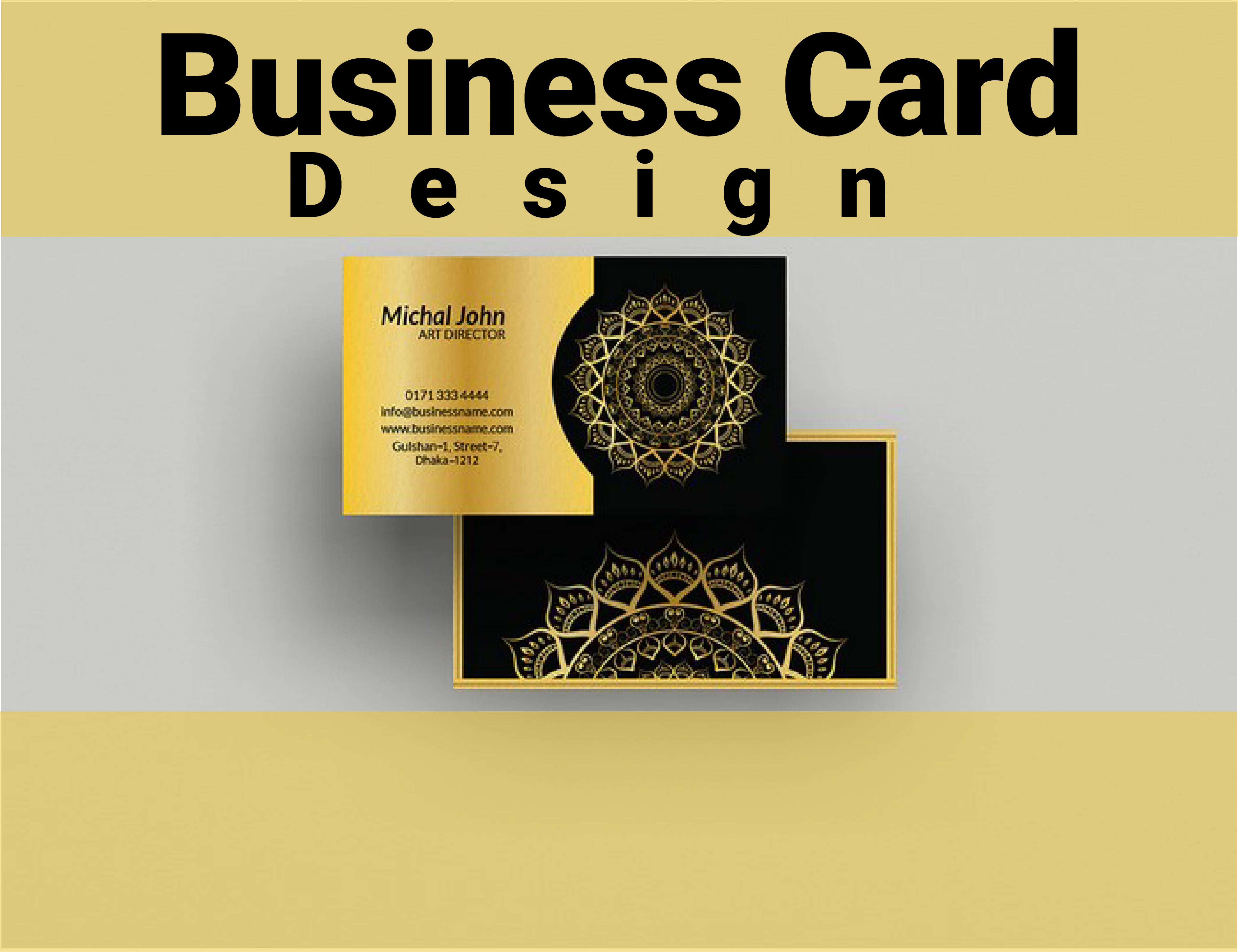 I am expert in professional business card design
