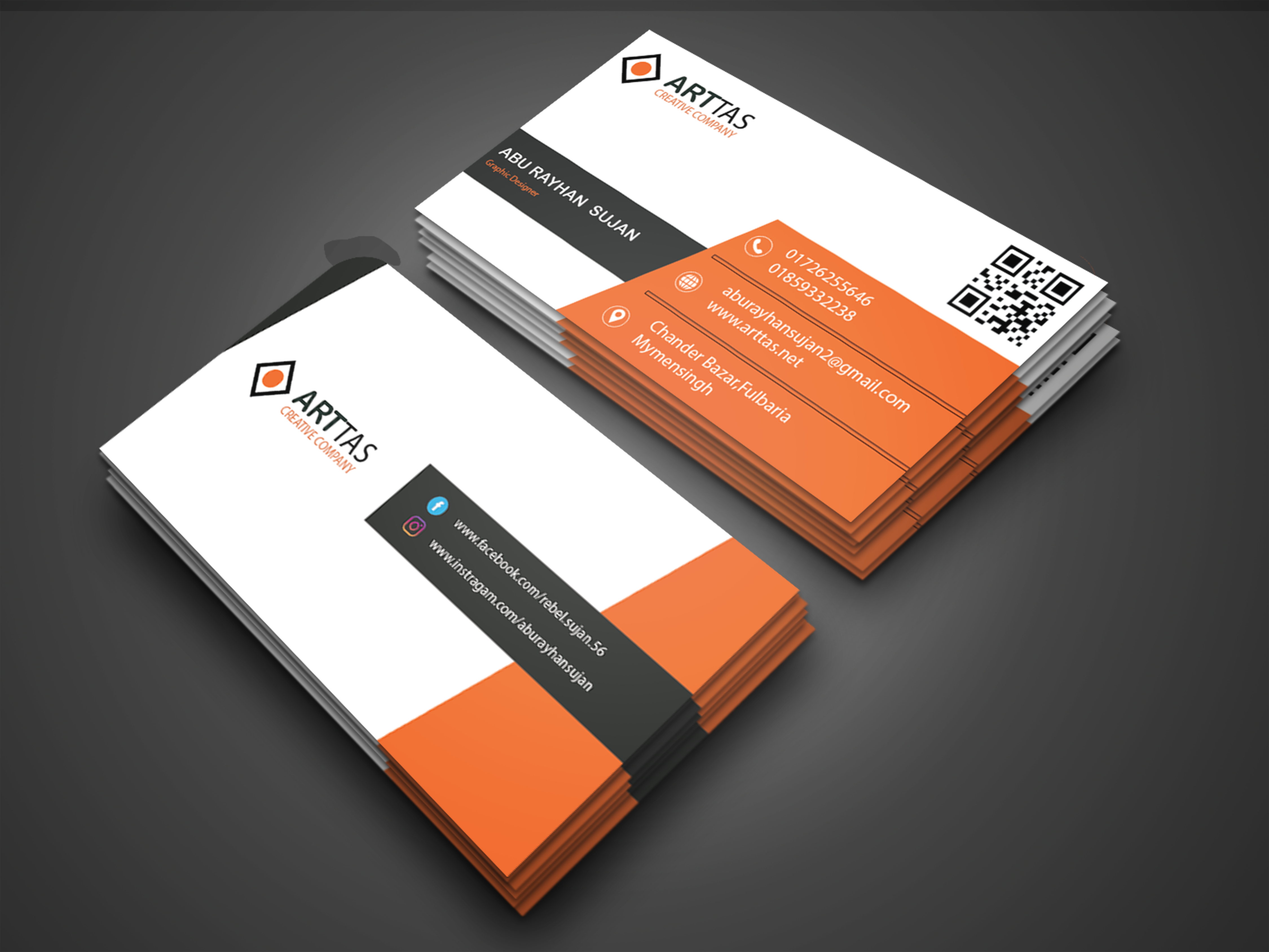I will provide 2 sided professional business card design