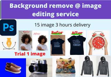 I will do background removal and photoshop editing super fast