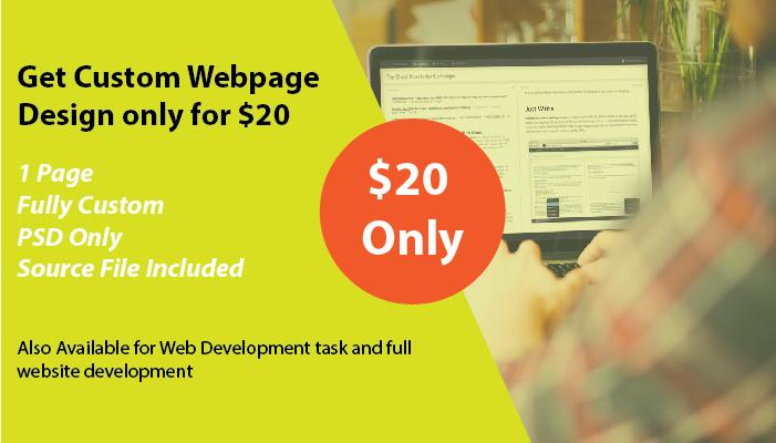 get custom webpage design