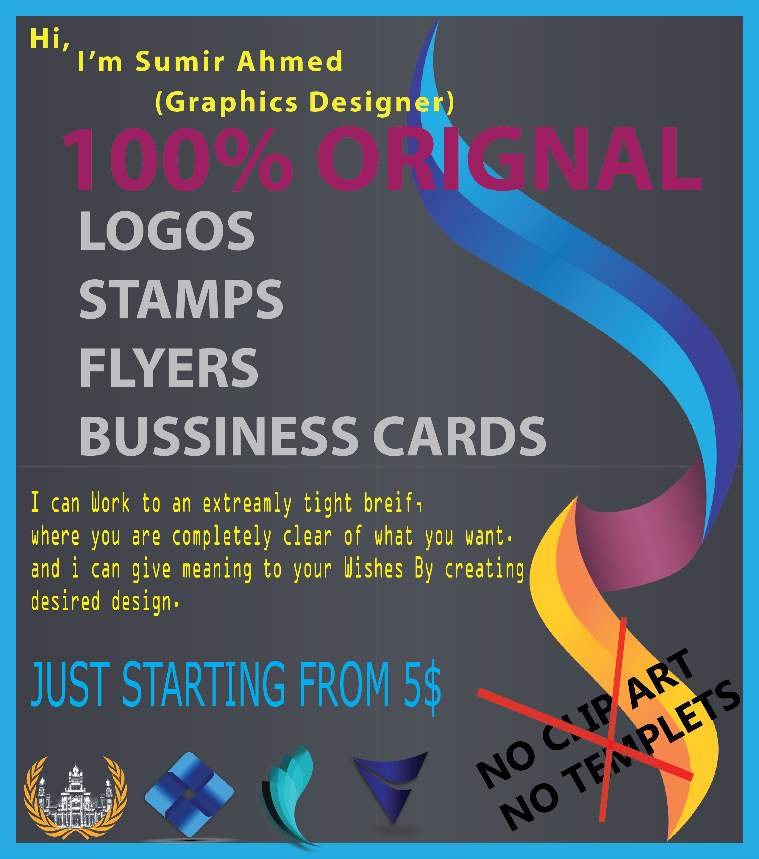 Design Logos / Business Cards Etc You want for $5