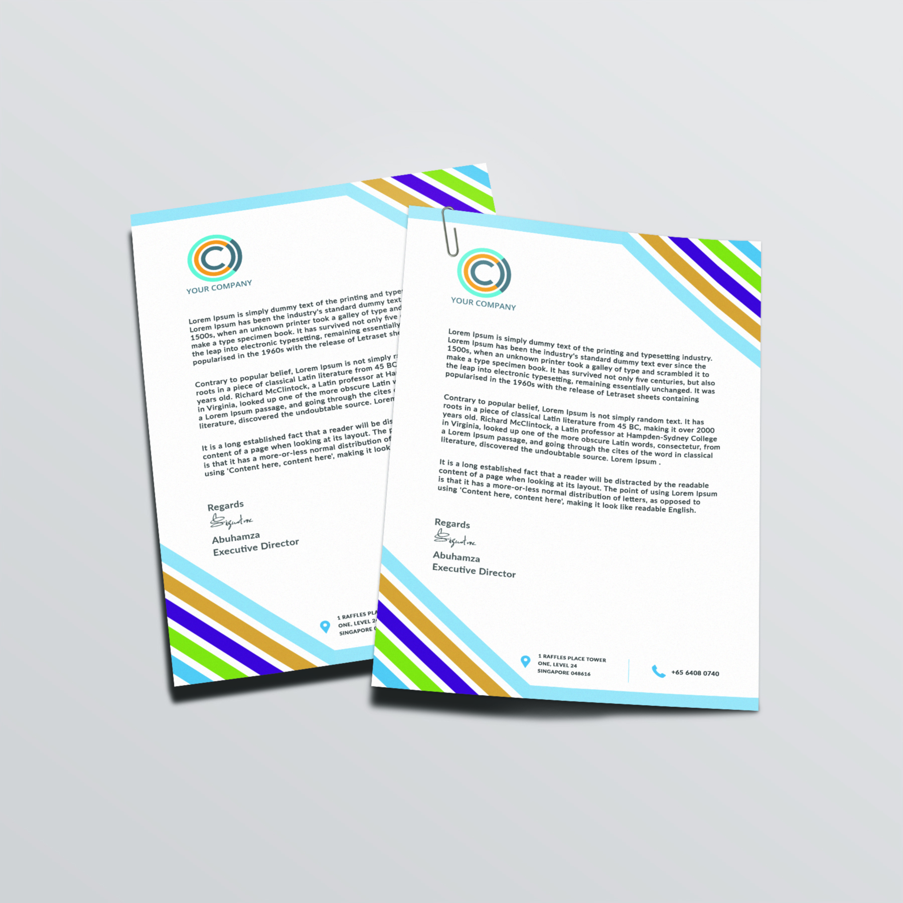 Unique And Professional Letterhead Template