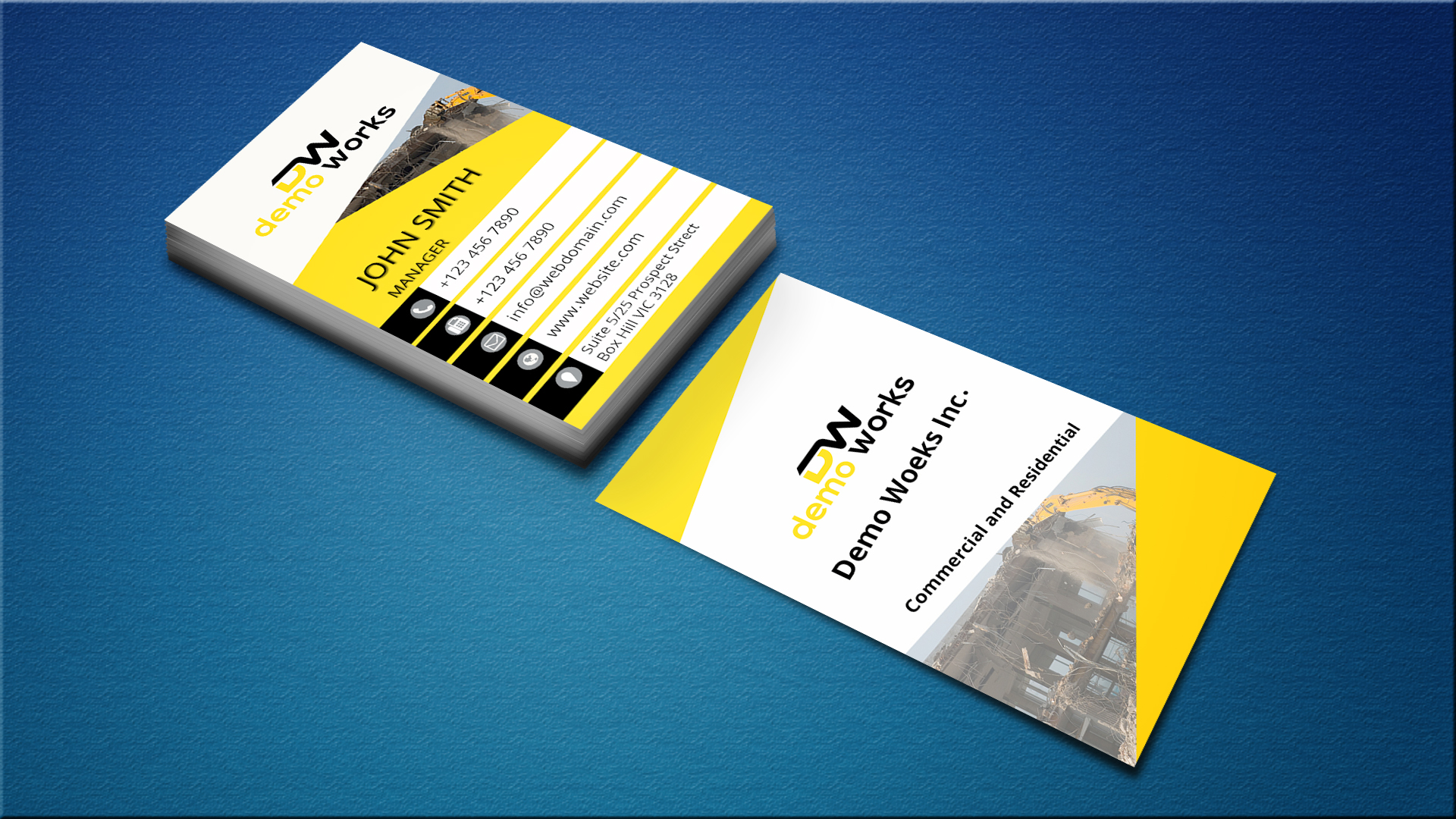 DESIGN DOUBLE SIDED CREATIVE AND PROFESSIONAL BUSINESS CARDS WITH FREE PSD