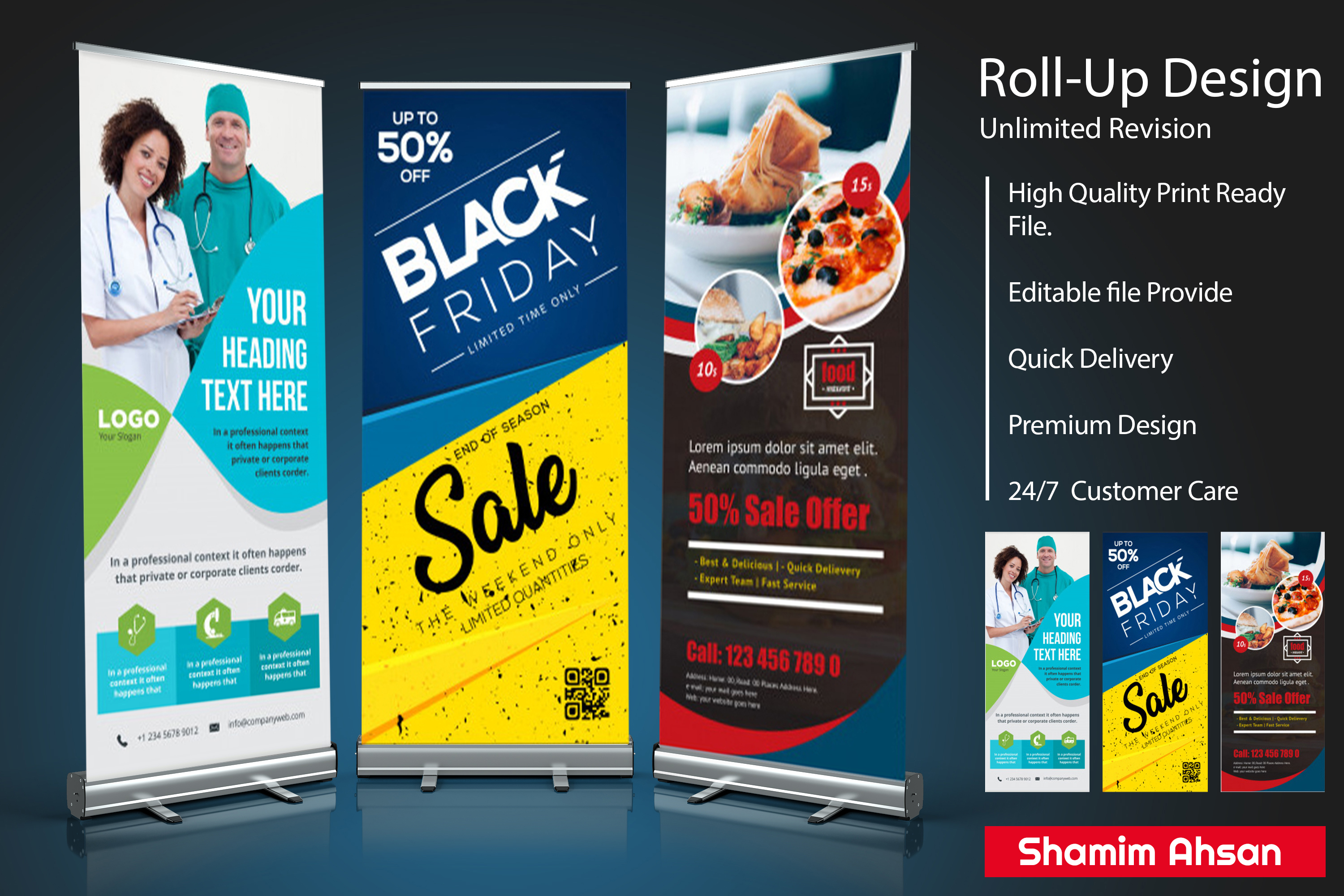 Design Any Banner, Billboard Or Roll-Up within 24 hours