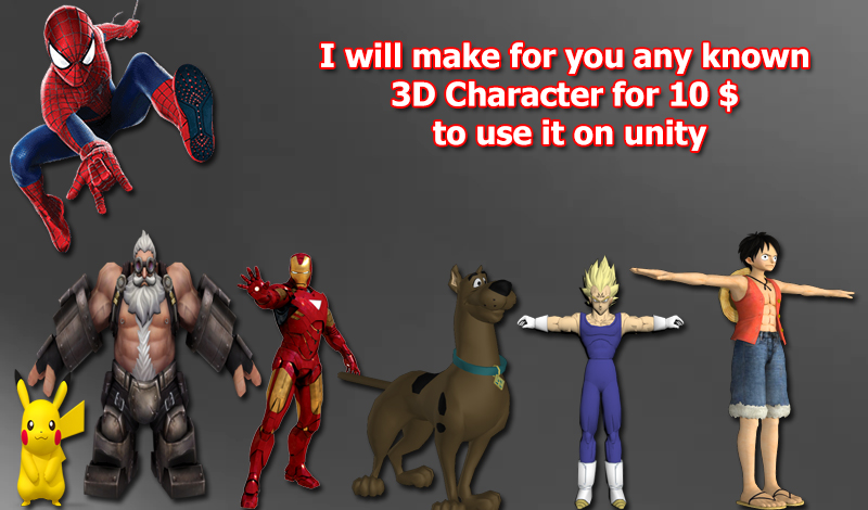 i model for you any known character for $5