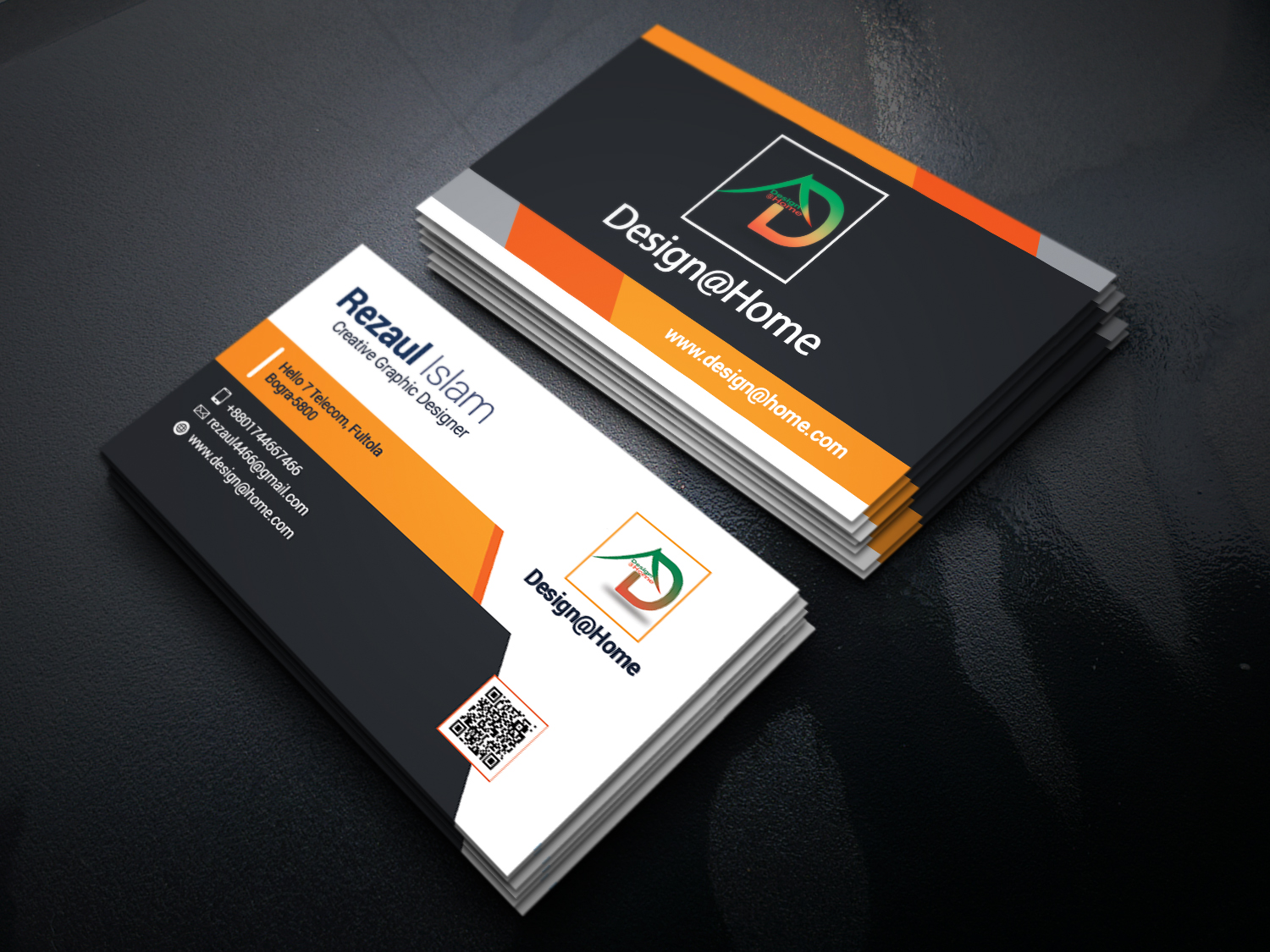 creative business Card Design with unlimited revsion